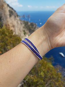 Bracelet Camila [violet] [miyuki] porté