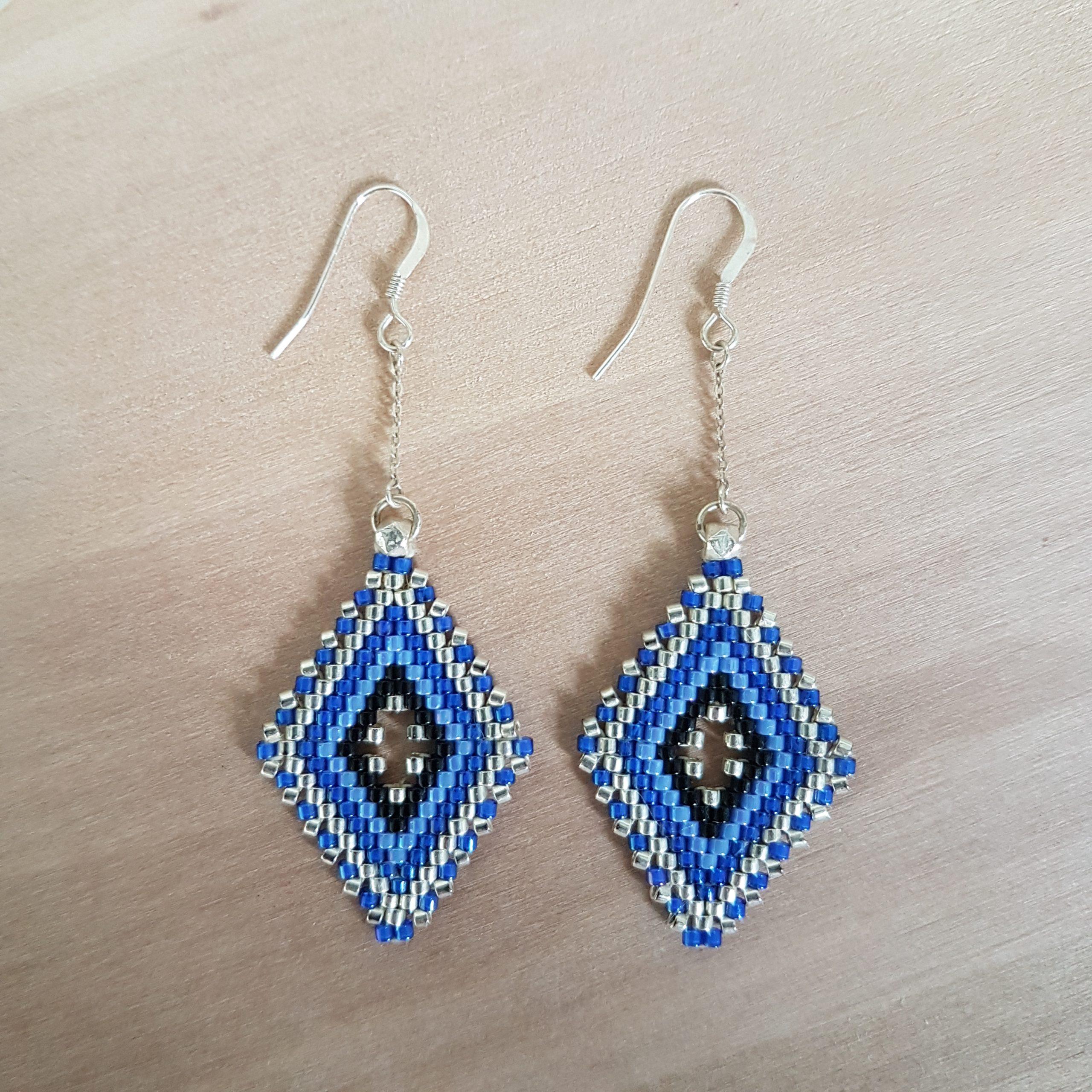 Boucles d'oreilles LINA [bleu]