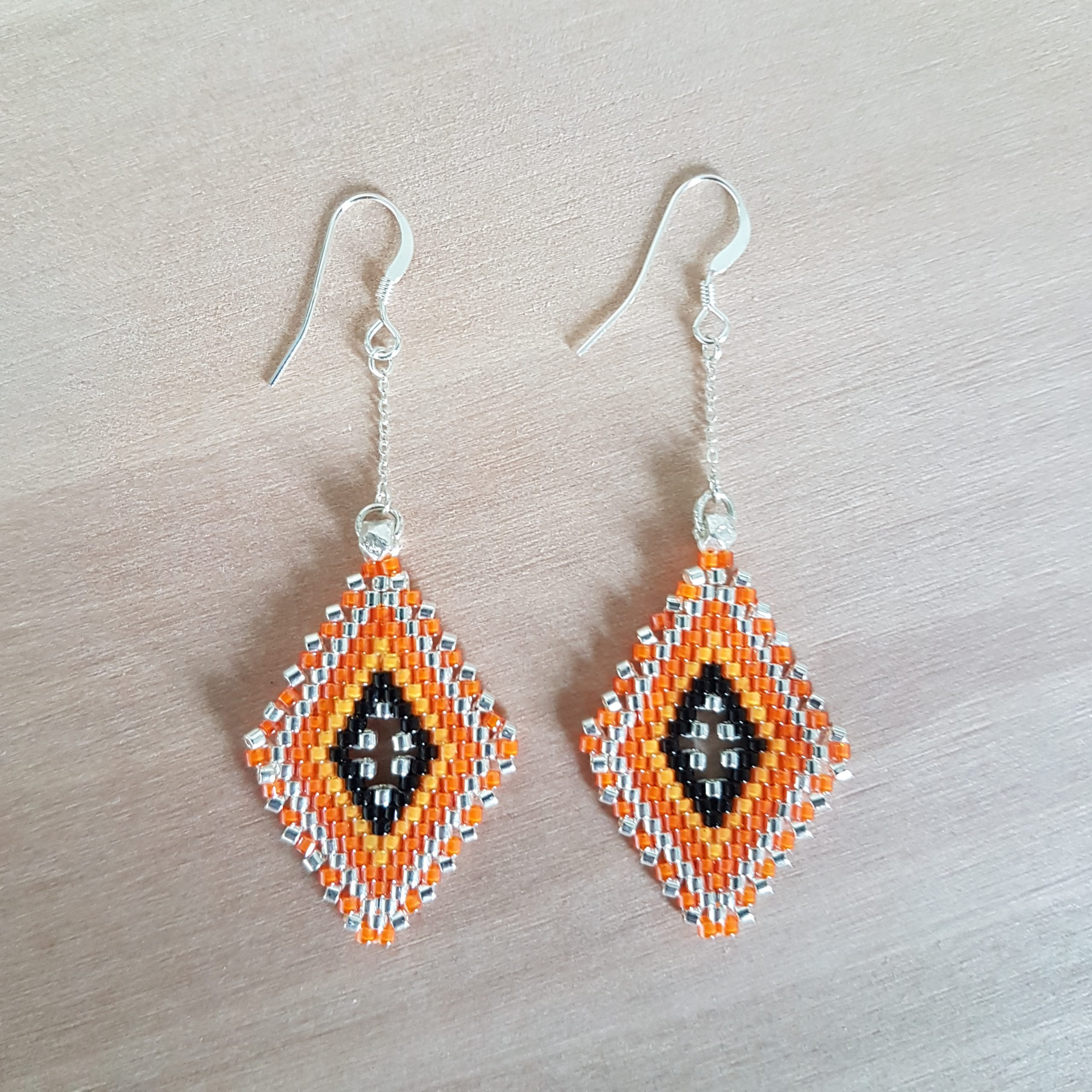 Boucles d'oreilles LINA [orange]