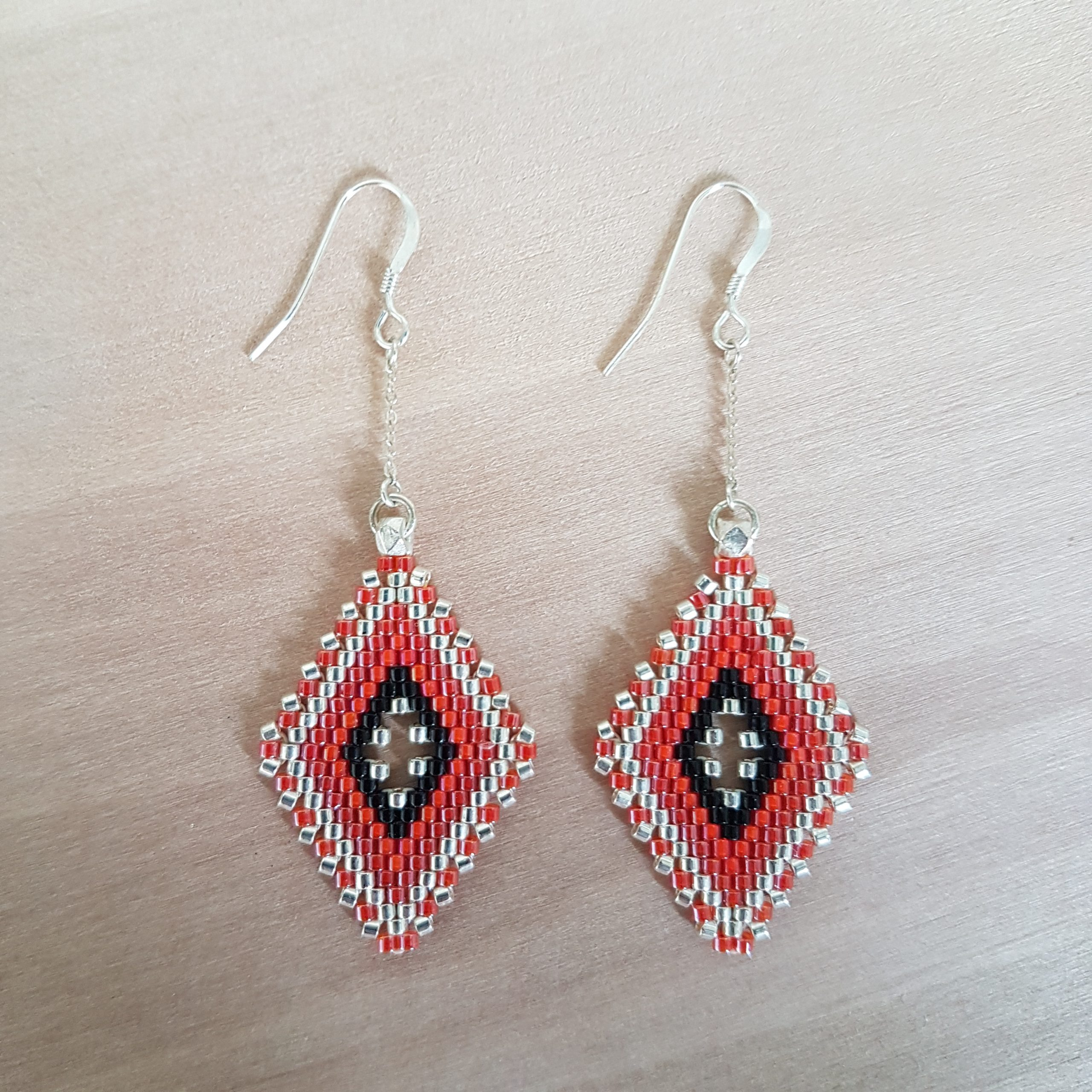 Boucles d'oreilles LINA [rouge]