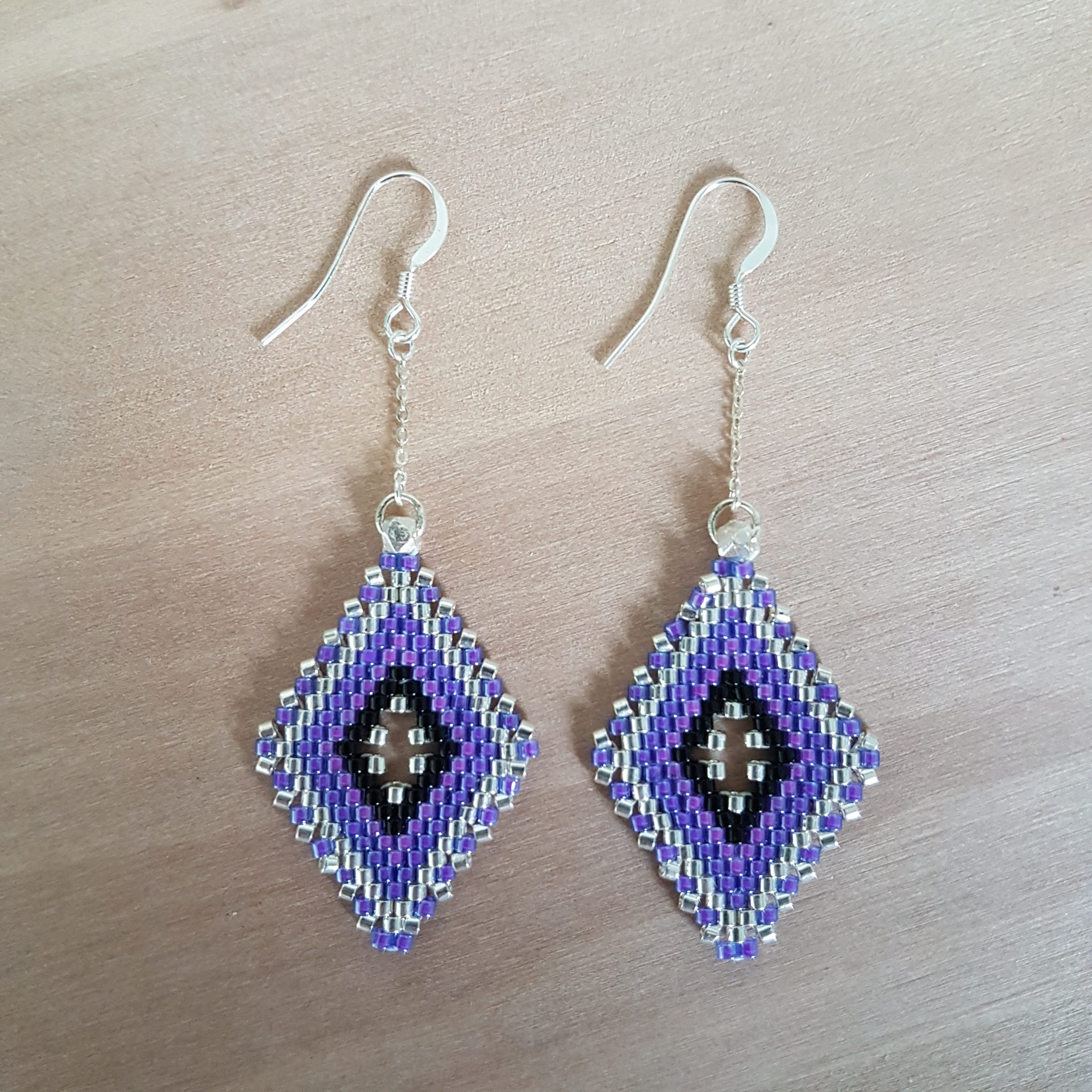 Boucles d'oreilles LINA [violet]