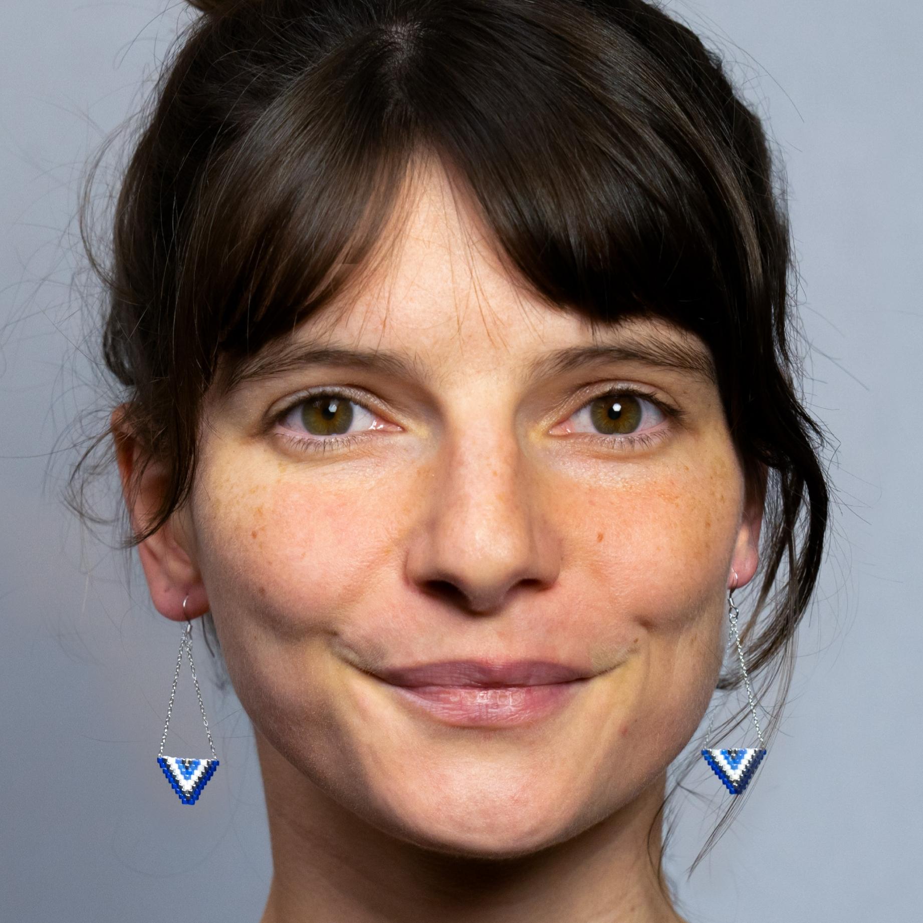 Boucles d'oreilles ALEXANDRA [bleu]