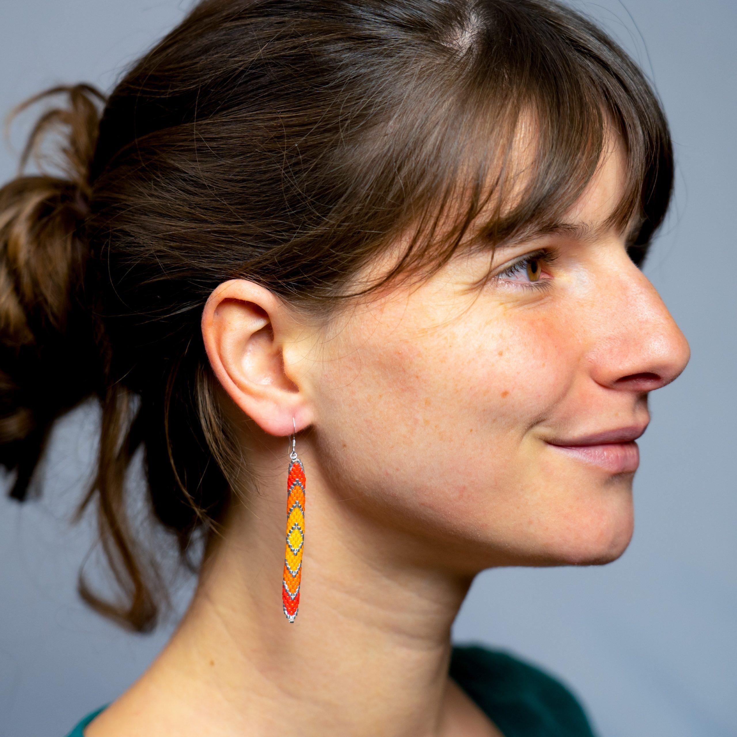 Boucles d'oreilles ARLEQUIN [automne]