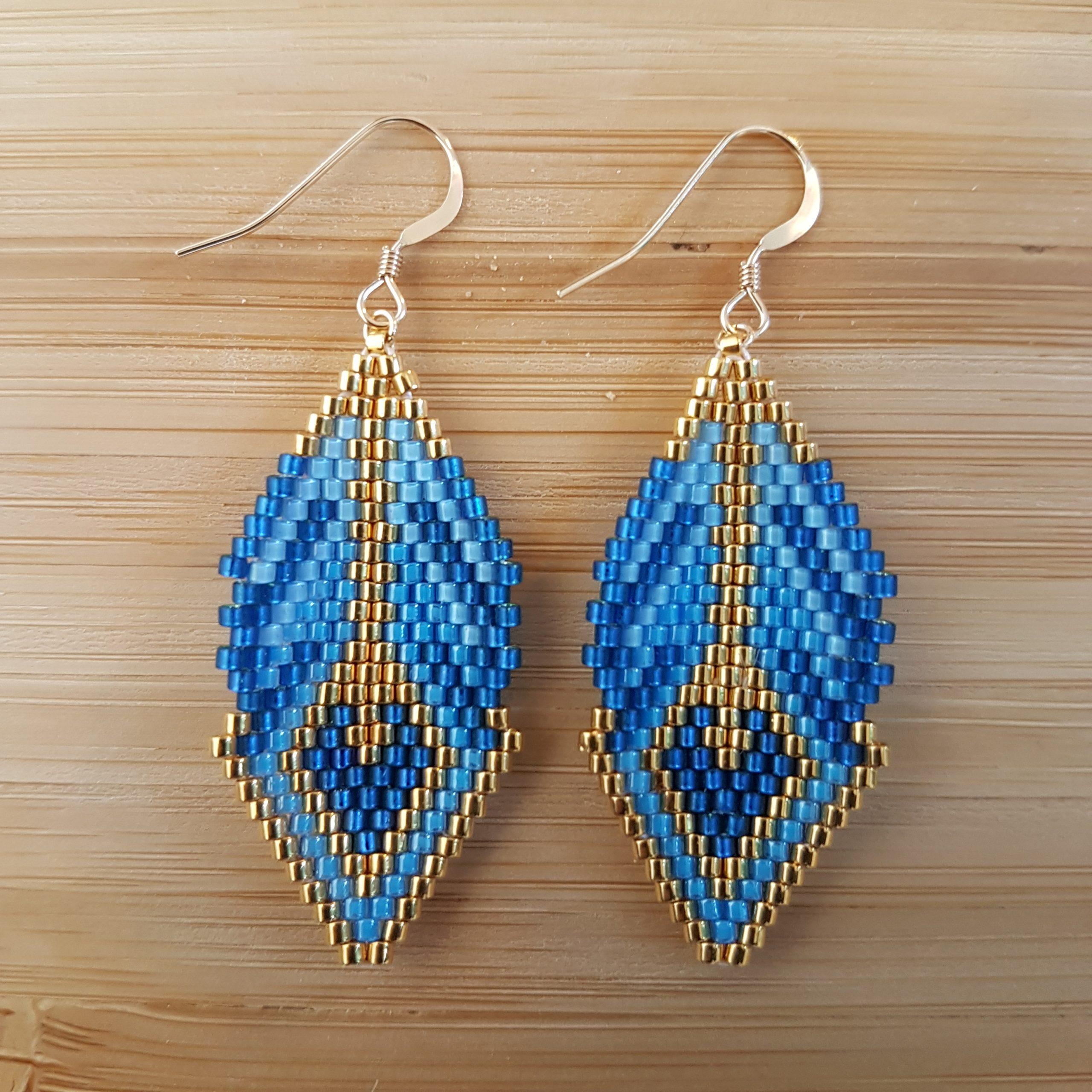 Boucles d'oreilles CAMILA [bleu]