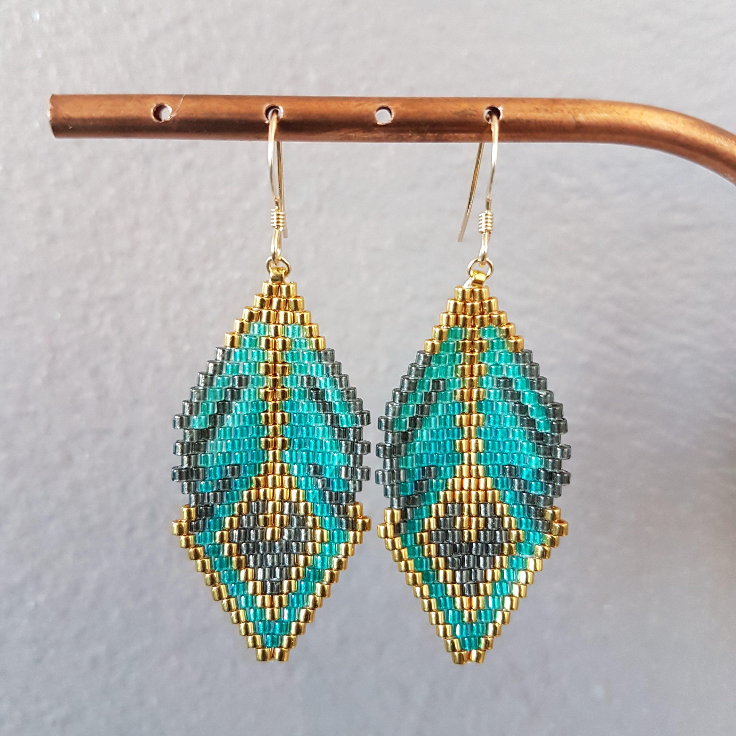Boucles d'oreilles CAMILA [vert]