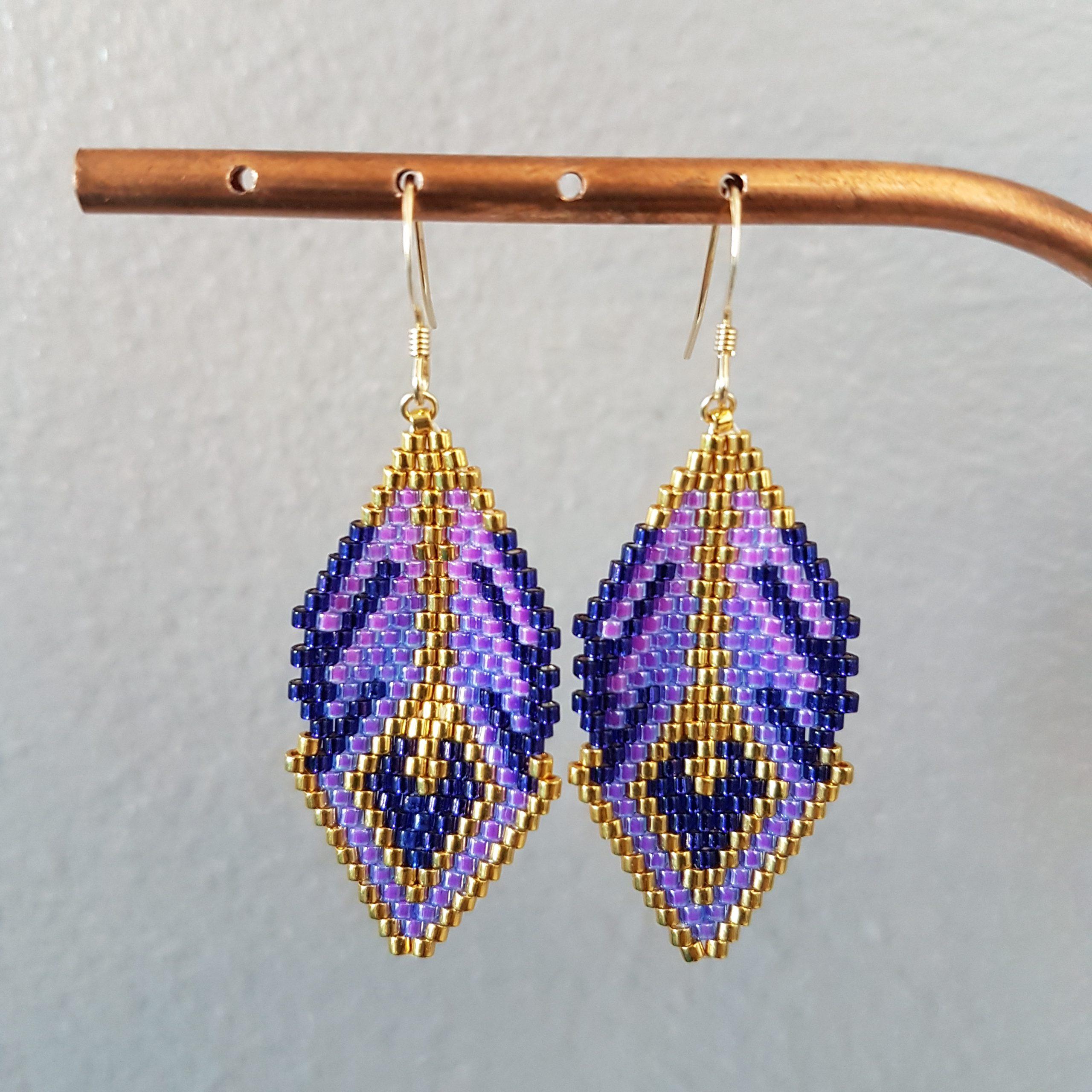 Boucles d'oreilles CAMILA [violet]