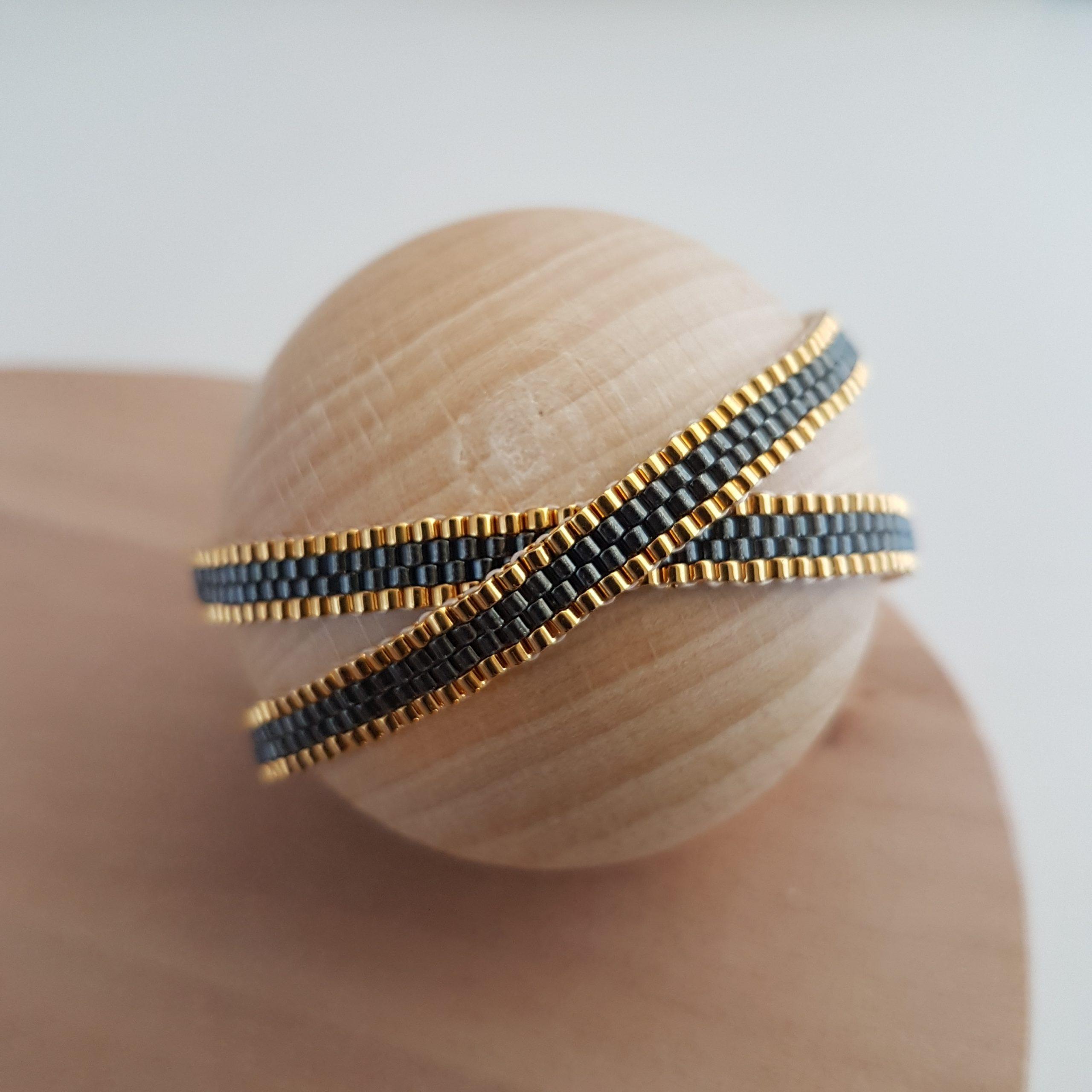 Bracelet double CAMILA [gris]