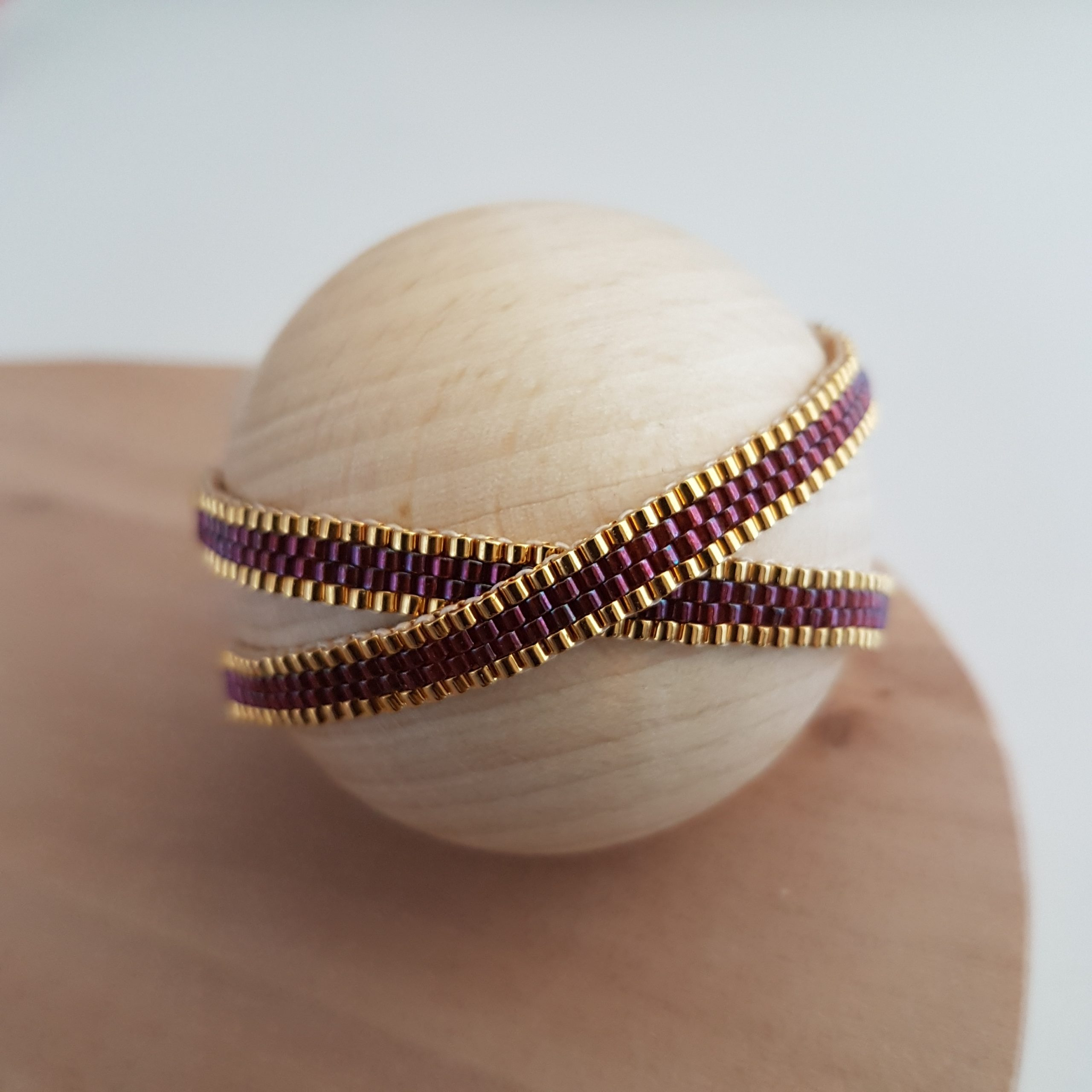 Bracelet double CAMILA [vieux rose]