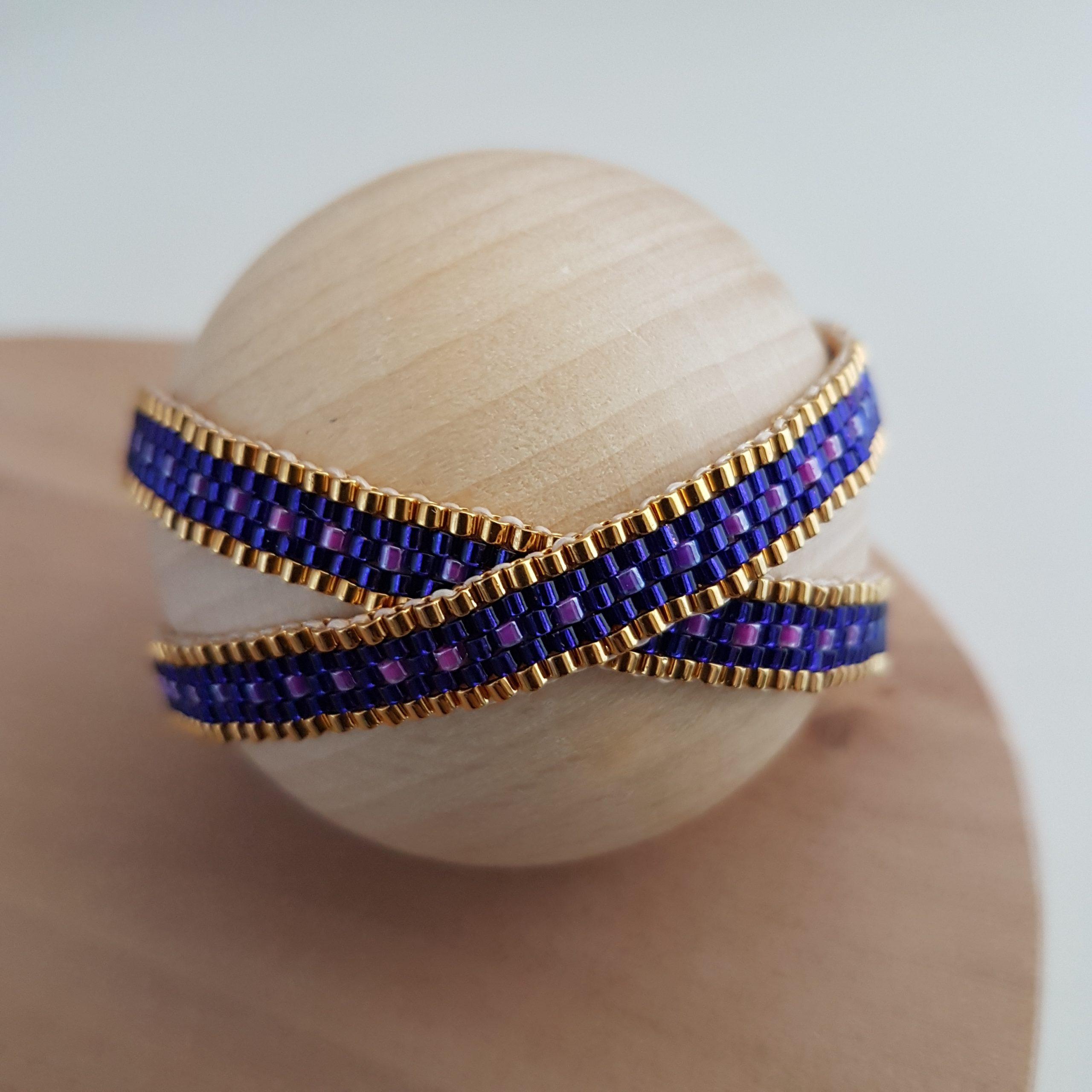 Bracelet double CAMILA [violet]