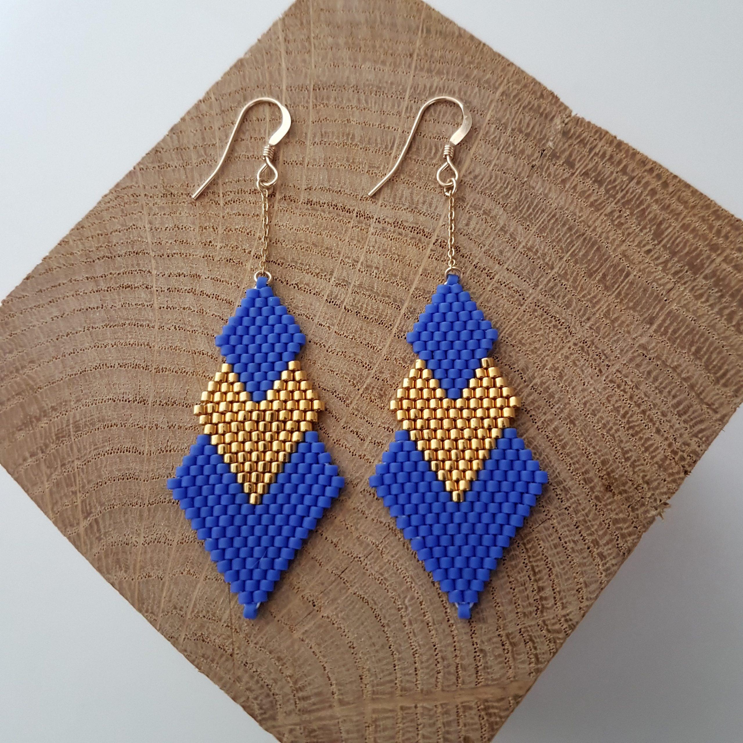 Boucles d'oreilles PENELOPE [bleu roi]