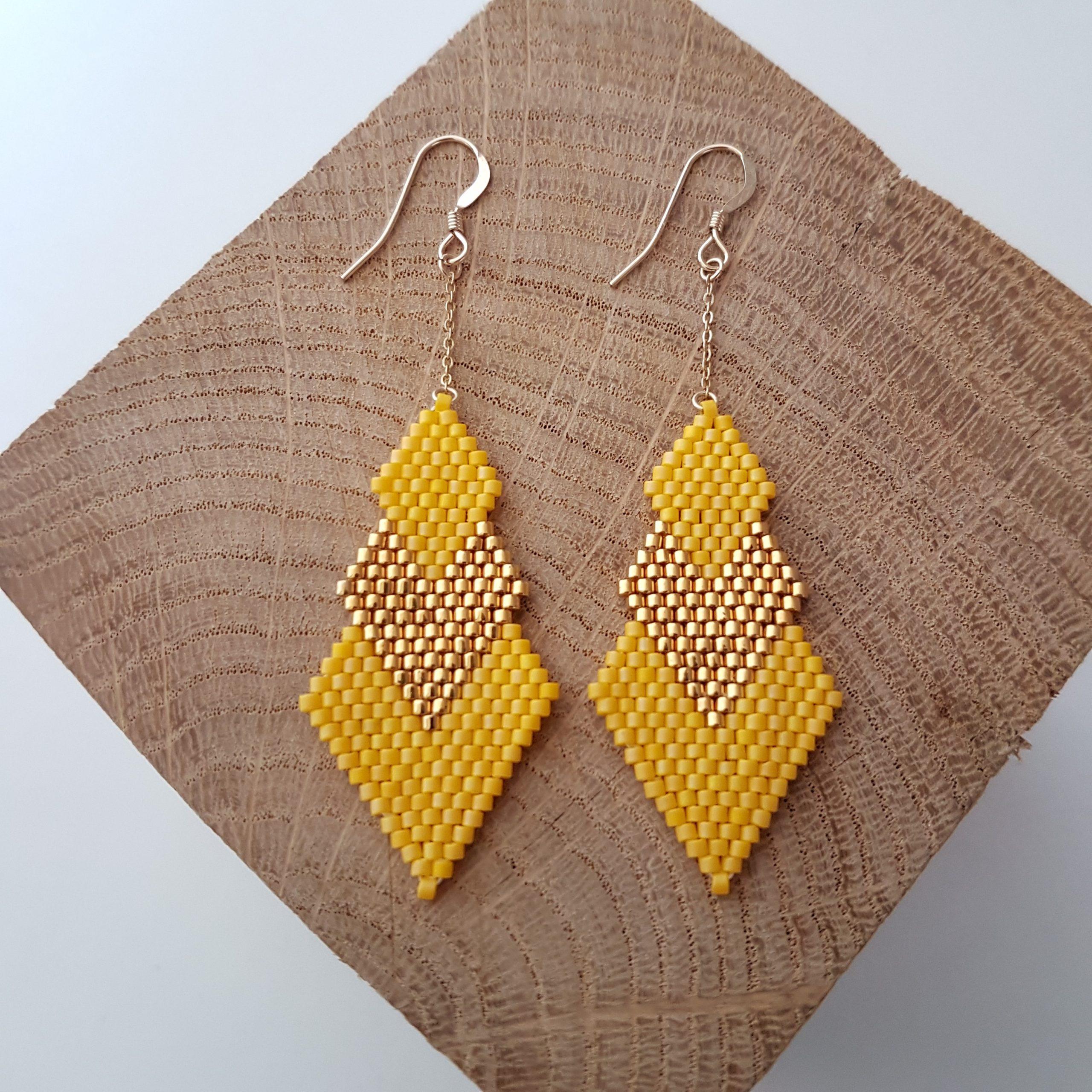 Boucles d'oreilles PENELOPE [jaune]