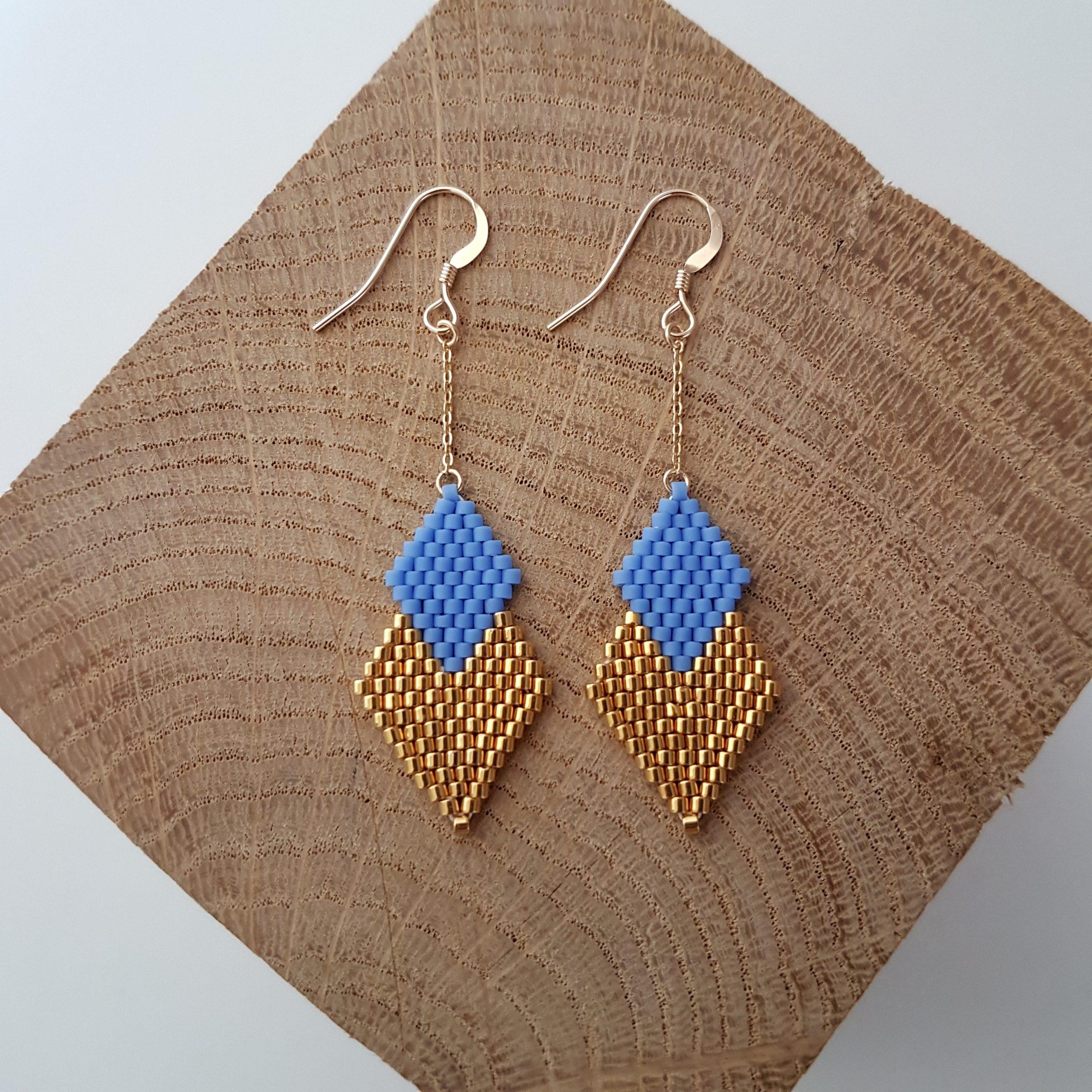 Boucles d'oreilles PENELOPE mini [bleu lavande]