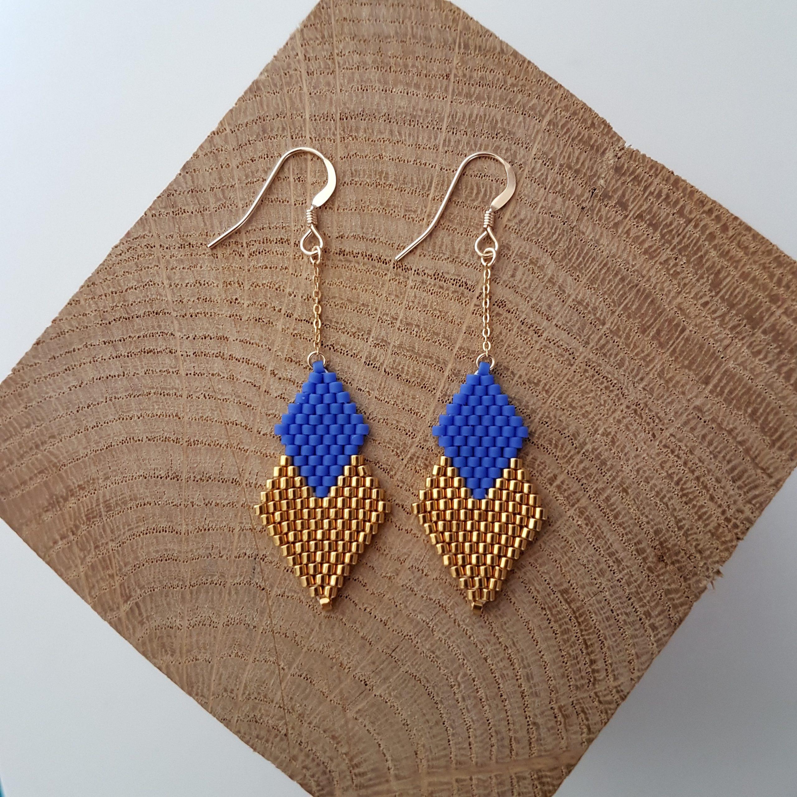 Boucles d'oreilles PENELOPE mini [bleu roi]