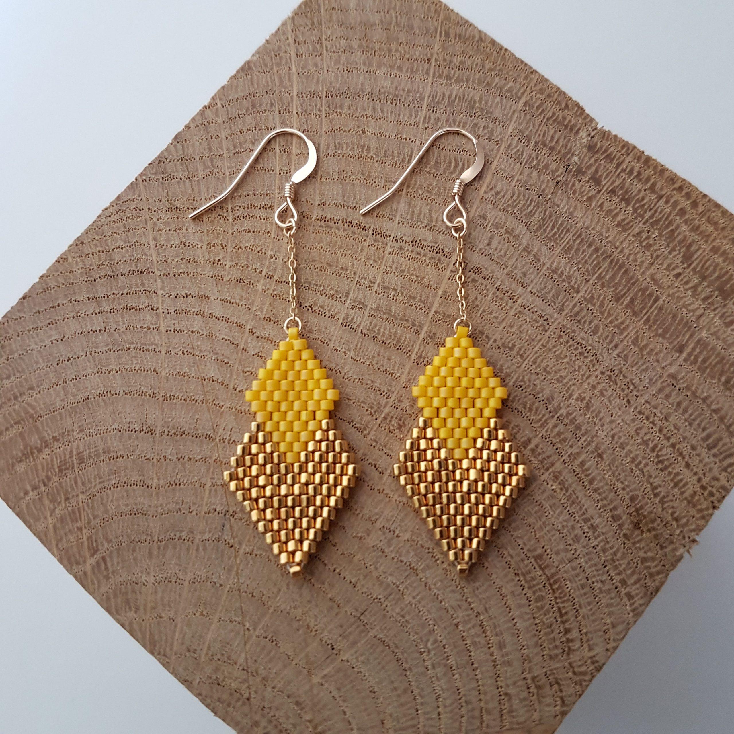 Boucles d'oreilles PENELOPE mini [jaune]