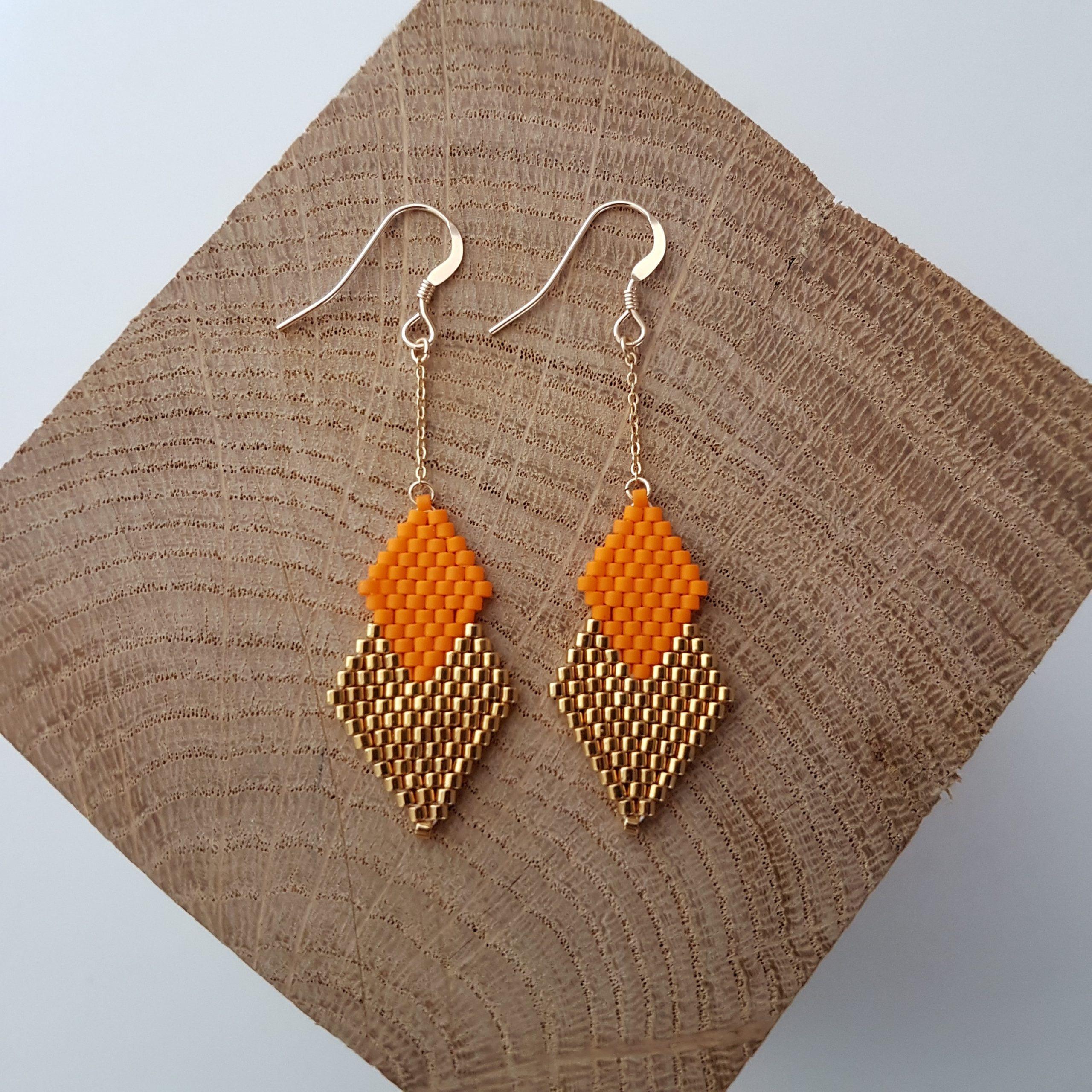 Boucles d'oreilles PENELOPE mini [orange]