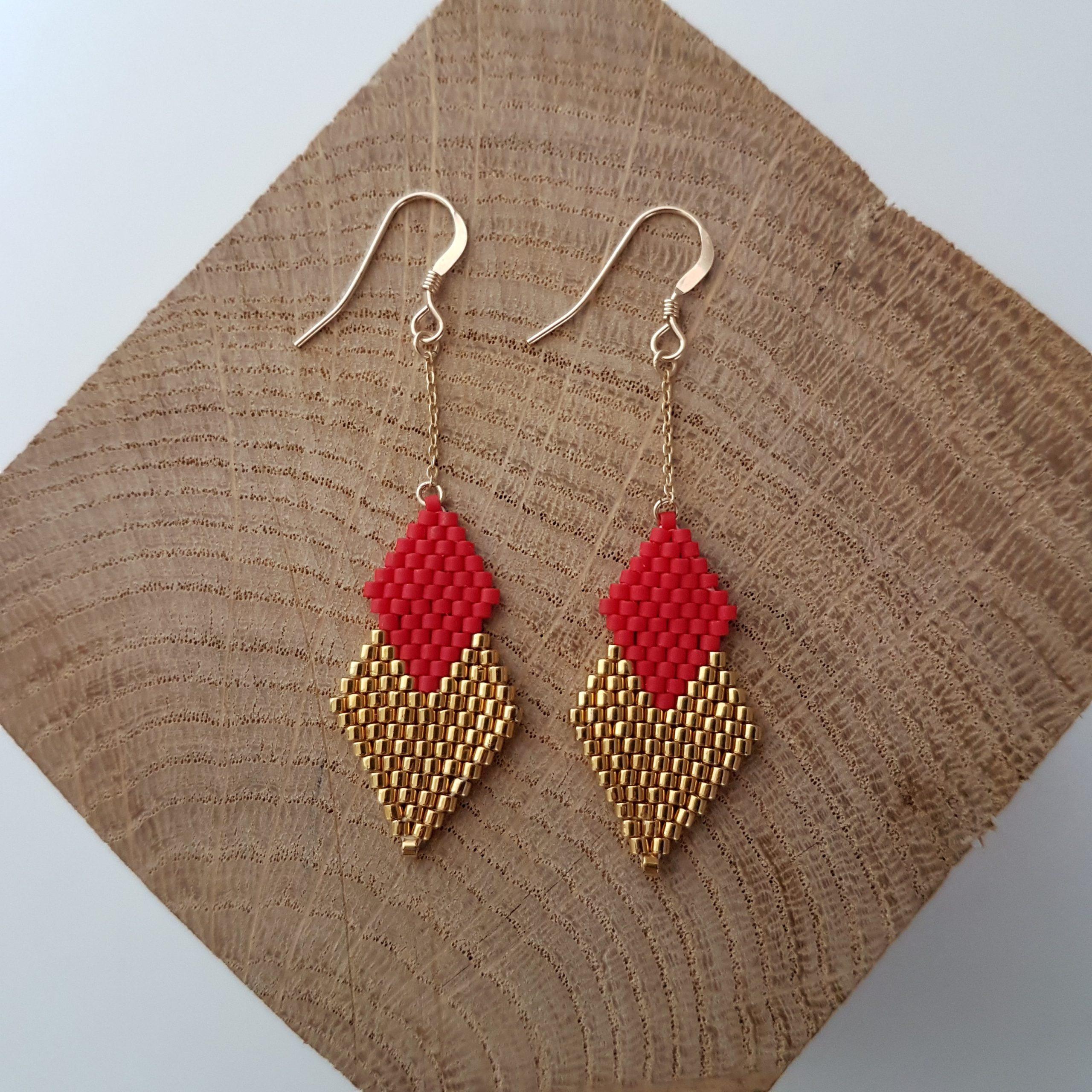 Boucles d'oreilles PENELOPE mini [rouge carmin]