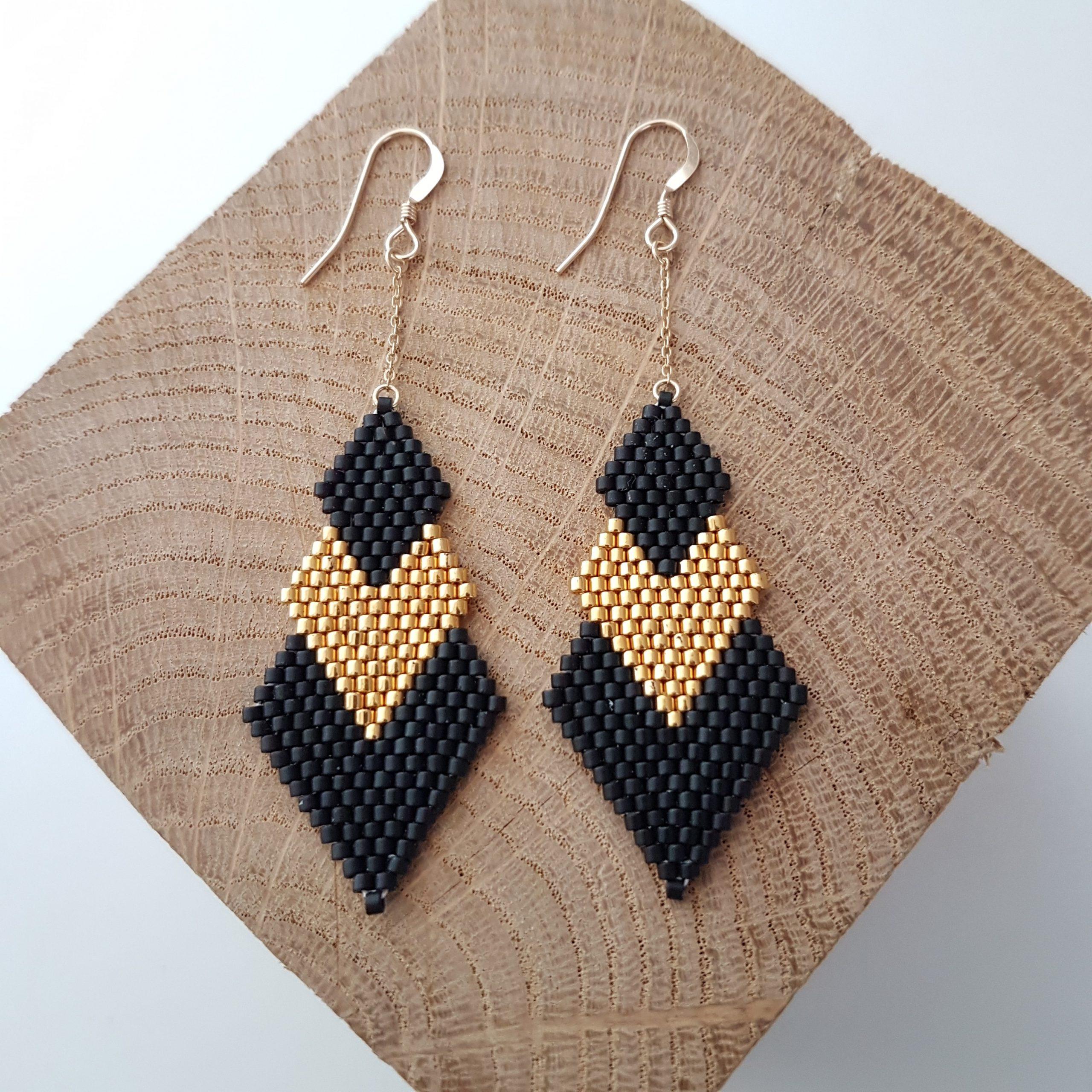 Boucles d'oreilles PENELOPE [noir]