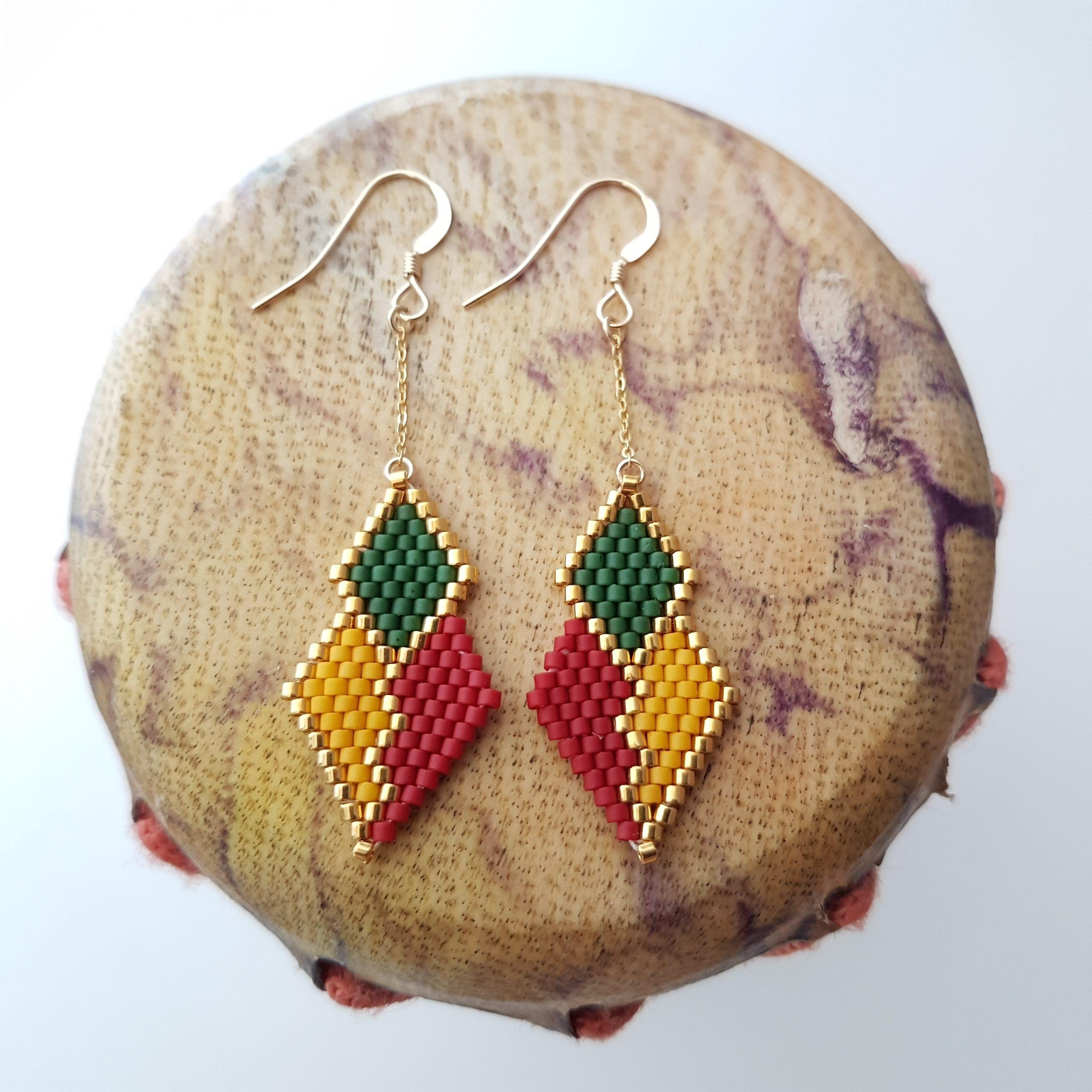 Boucles d'oreilles PENELOPE mini wax [Sénégal]