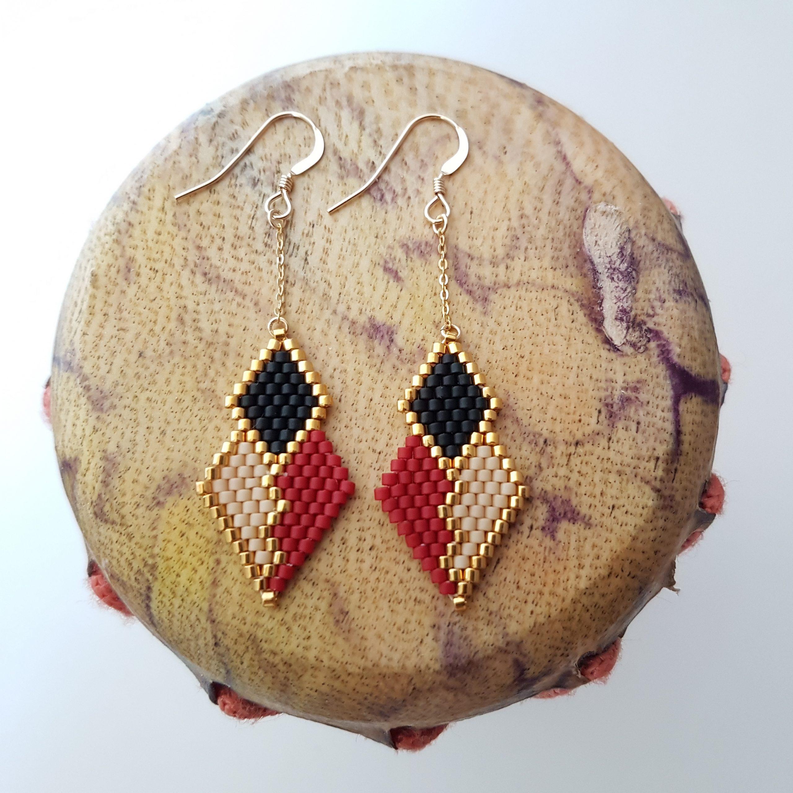 Boucles d'oreilles PENELOPE mini wax [Bordeau]