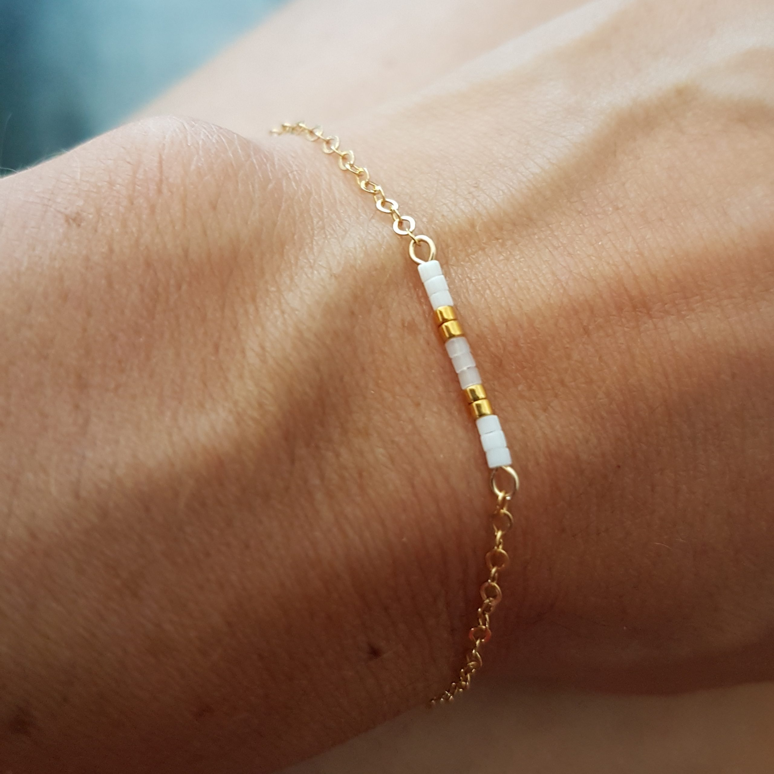 Bracelet AGATHE [blanc]