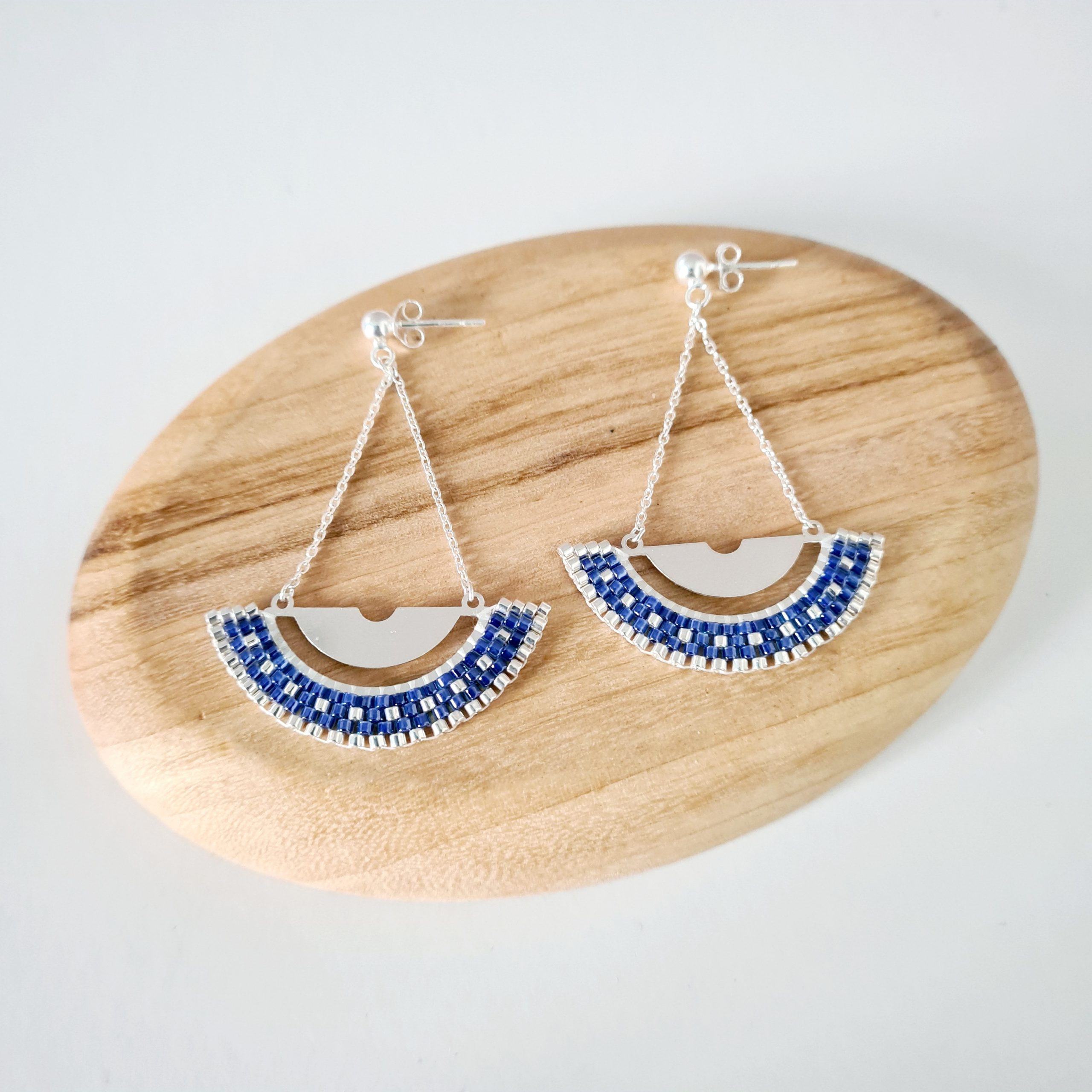 Boucles d'oreilles LUNAIRE [bleu]